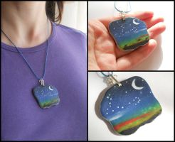 Starry sky pendant by ALINAFMdotRO