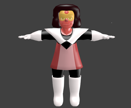 Captain Ruby MMD model W.I.P 2 (gift) by narath32x