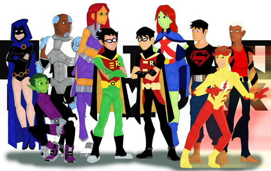 Teen Titans, Young Justice by Coptermode