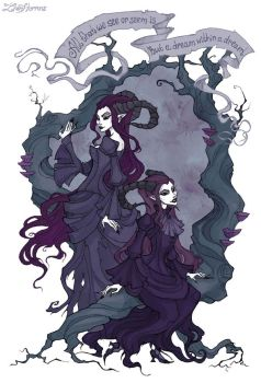 Horned Twins by IrenHorrors