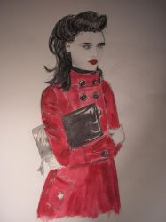 the red coated woman by mliv