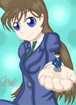 Conan and Ran: Check this out! by whitestormclouds