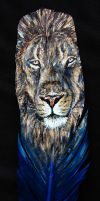Lion Feather by JenTheThirdGal