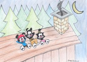 Rooftop Animaniacs by itsayskeds