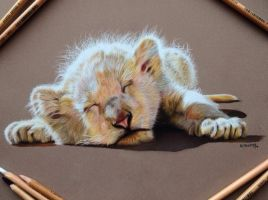 White Lion Cub by EquineRibbon