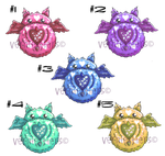 Puffluffets Heart Kitties Adopts(OPEN)(10 POINTS) by VernFeathers