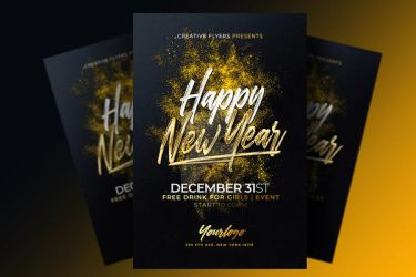 New year Party Flyer by RomeCreation
