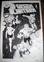 Green Lantern mixed cover Commission by redskindavyd