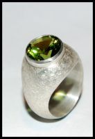 Ring with Zirconia by Lily-Anne