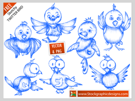 Free Twitter Bird Icons by Stockgraphicdesigns