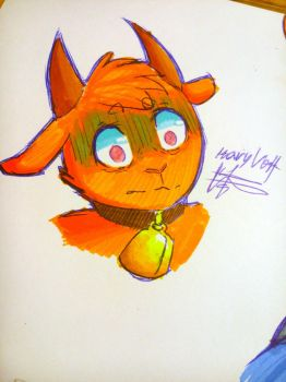 Chip the goat by Mary-Volt-htf