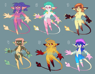 Tawlary Adoptables [OPEN!] by mozartmemoriam
