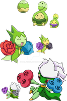 406, 315 and 407 - Budew Evolutionary Family