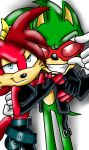 Fiona Fox and Scourge the Hedgehog by TothViki