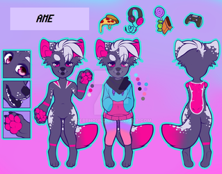 Ame refsheet by Derphound