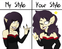 Your Style Vs. Mine 2 by theartisan2