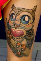 Heart Owl by XeviousTheGreat
