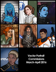 Portrait Commissions March-April by Karlika