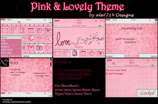 Pink and Lovely for BlackBerry by ale7714