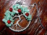 Aventurine and Silver Wire Tree of Life Bookmark by TurquoiseTreeArt