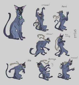 Cathulu combat screen poses by Shagan-fury
