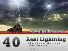 40 HQ Lightning Bolt brushes by Andrei-Oprinca