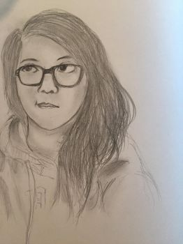 Self-portrait Sketch by nohorns11