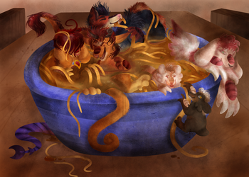 Oodles of Noodles by garbagefactory
