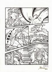 Comission_Lefftah_vs_ladyFang_Comic Art_06_2018 by AlexBaxtheDarkSide