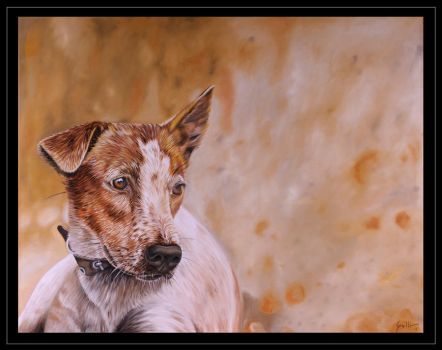 Dog in Earth Colors by elgallosicodelico