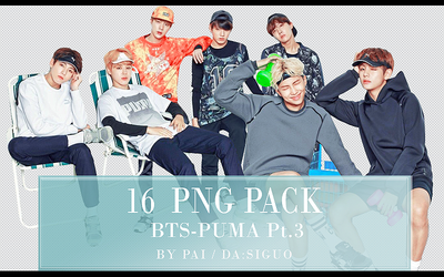 BTS PUMA PNG PACK #16 by Pai by Siguo