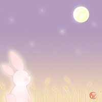 Bunny and the Moon by Pink-world