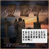 Gothic Brushes by moonchild-lj-stock