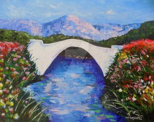 River Bridge by CindysFineArtStudio