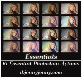 FREE Essentials Photoshop Actions by ibjennyjenny