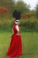 Walking in Red - Oil painting by photoartbyshannon