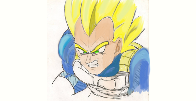 Vegeta Colored by BadClone