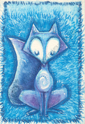 Blue Fox Totem by shidonii