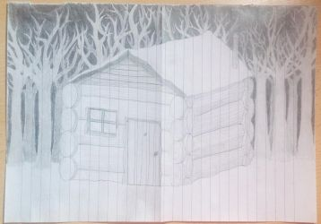 Cabin in the forest by ARTAMIS-arrow
