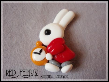 WhiteRabbit Pin by RedFenyx