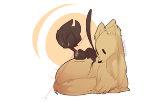 OTP challenge Day 8 - as animals by Elemental-FA