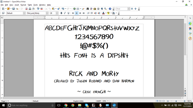 Rick and Morty Font by StarriiChan