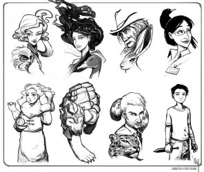 DarkMaterials sketchportraits by ming85