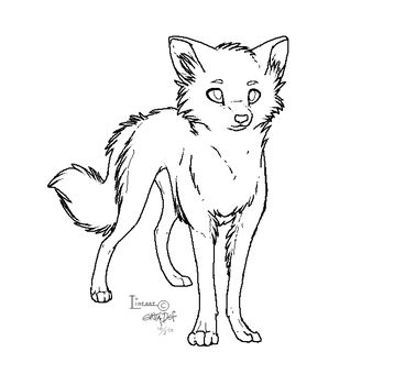 FREE WOLF LINEART by entadeath