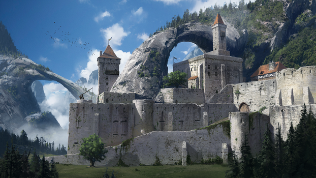 Fortress of the Arch by JeremyPaillotin