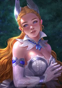 Fan Art : Odette - The Swan Princess by IndahAlditha
