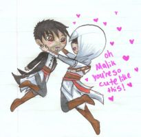 Altair is fond of chibi? by Arithusa
