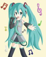 Hatsune Miku by Flame-of-Icarus