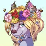 Commission: Flower Crown by Marshmallowl