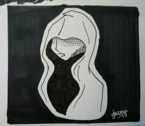Inktober: Day 12 - Hooded figure by Elmer157Typhlosion